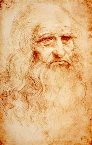 Leonardo Da Vinci, autoportrait (CC0 - domaine public)