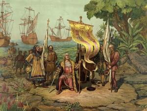 Christophe Colomb arrive en Amérique