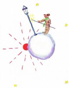 L'allumeur de réverbère du Petit Prince (© Le Petit Prince)