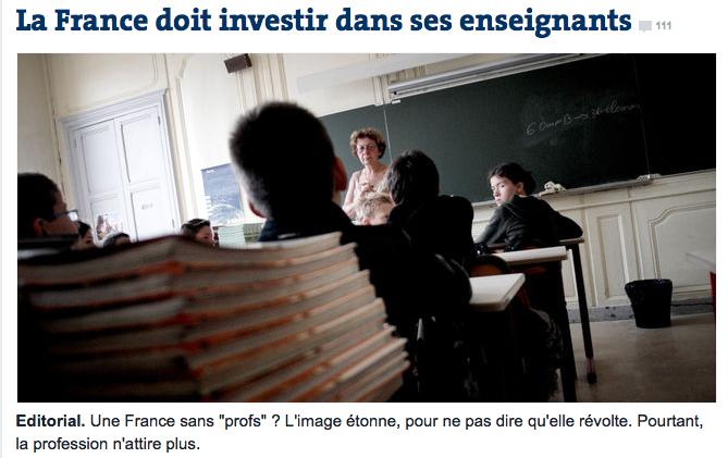 La France doit investir dans ses enseignants